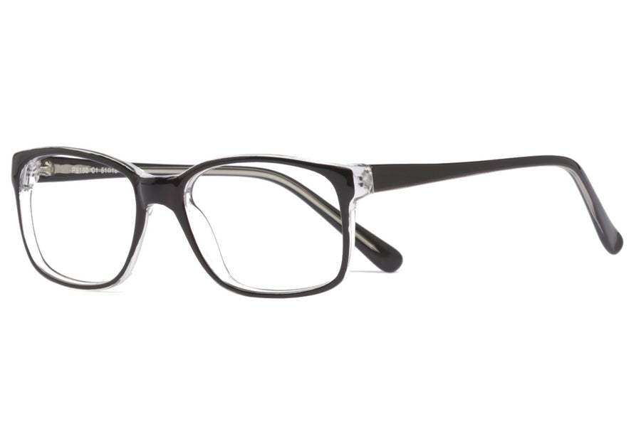 Cody glasses frames in black/clear | Mr Foureyes prescription glasses online