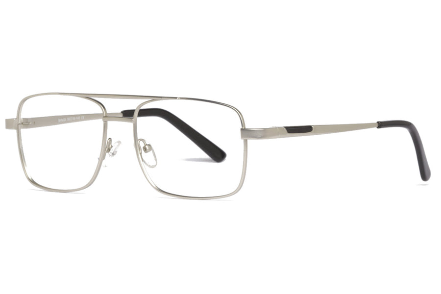 Romano metal glasses frames in silver | Mr Foureyes prescription glasses online