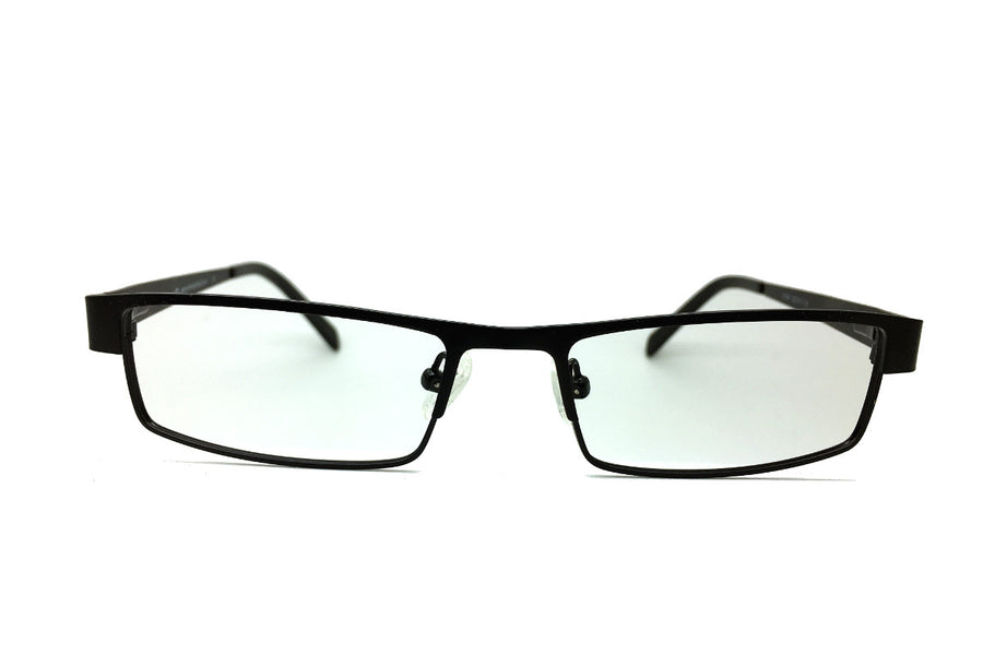 Metal children's glasses frames by Mr Foureyes (Marshall style in black, front shot)