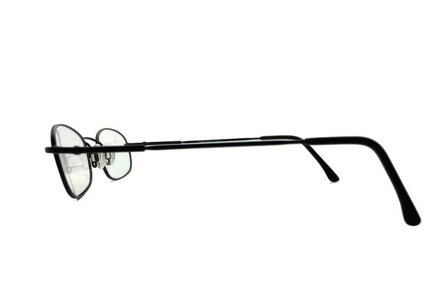 Metal children's glasses frames by Mr Foureyes (Morgan style in black, side shot)
