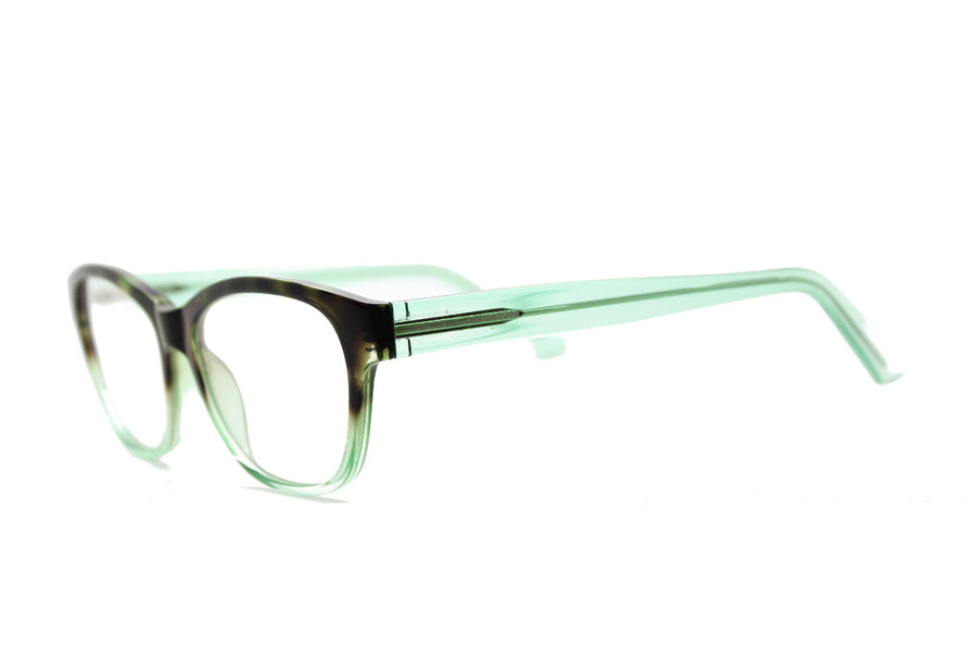 Cute & colourful acetate glasses frames by Mr Foureyes (Olivia style, green colour, angle shot)
