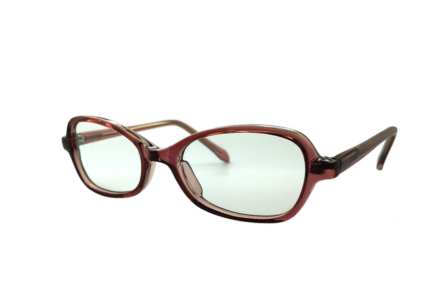 Bronze coloured acetate children's glasses frames by Mr Foureyes, Oscar style, angle shot