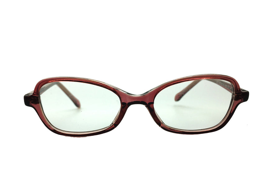 Bronze coloured acetate children's glasses frames by Mr Foureyes, Oscar style, front shot