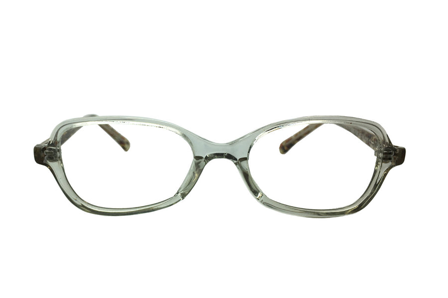 Clear/patterned acetate children's glasses frames by Mr Foureyes, Oscar style, front shot