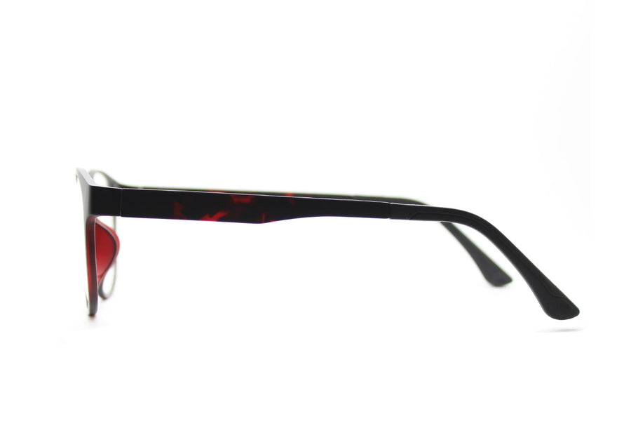 Phoenix clip-on prescription sunglasses by Mr Foureyes side shot optical glasses in tortoiseshell