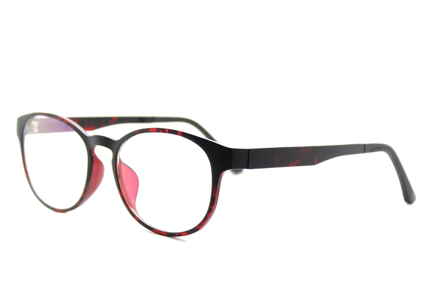 Phoenix clip-on prescription sunglasses by Mr Foureyes angle shot optical glasses in tortoiseshell