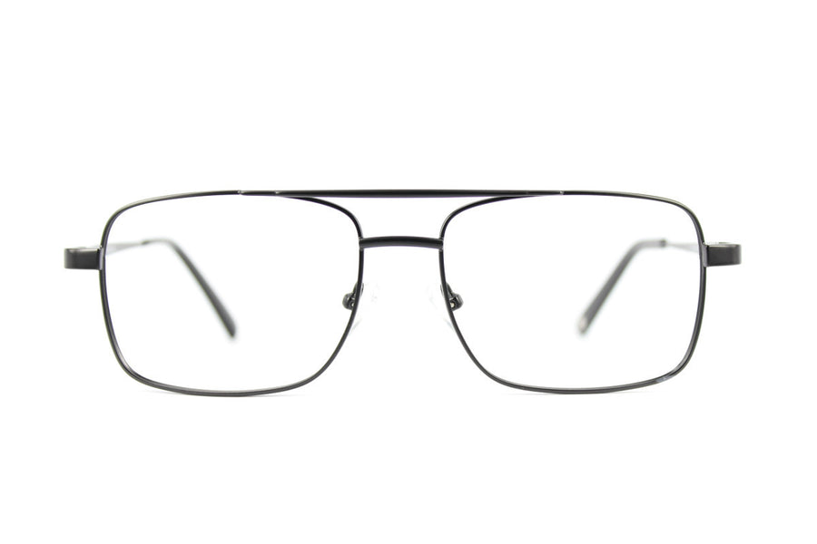 Romano metal glasses frames in black | Mr Foureyes prescription glasses online