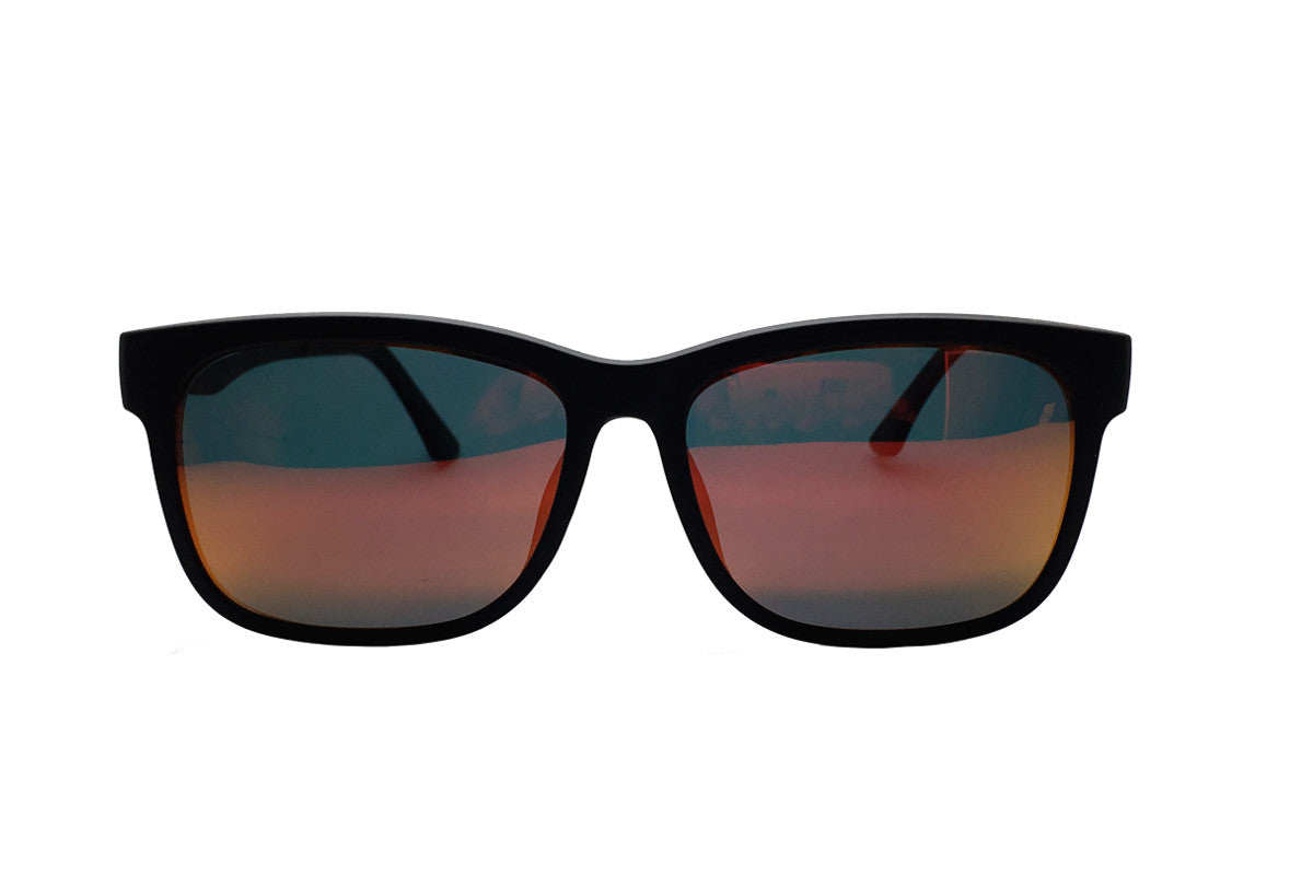 8708a3bada18 Reese clip-on prescription sunglasses by Mr Foureyes front shot with clip- ons with ...