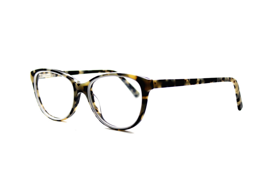 Beautiful white marble tortoiseshell acetate glasses frames by Mr Foureyes (limited edition Shell style, angle shot)