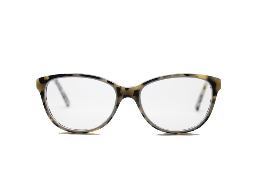 Beautiful white marble tortoiseshell acetate glasses frames by Mr Foureyes (limited edition Shell style, front shot)