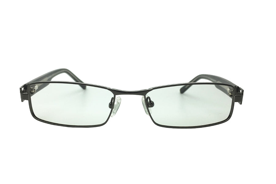 Metal children's glasses frames by Mr Foureyes (Stanley style in gunmetal grey, front shot)