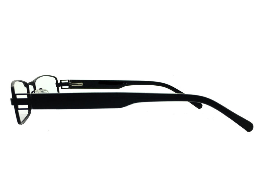 Metal children's glasses frames by Mr Foureyes (Stanley style in black, side shot)