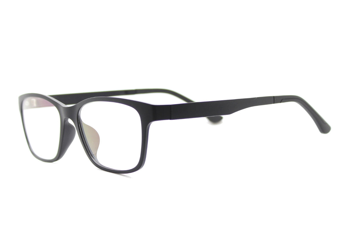 45f0fb1e632 ... Taylor clip-on prescription sunglasses by Mr Foureyes angle shot  optical glasses in black ...
