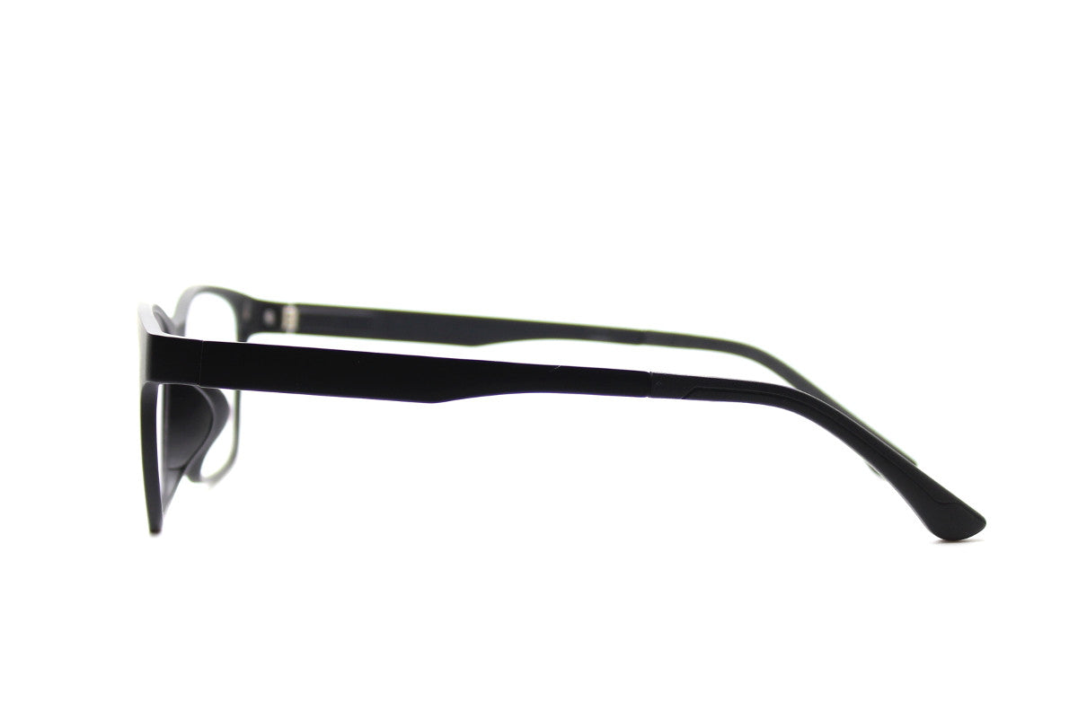 fa91f914541 ... Taylor clip-on prescription sunglasses by Mr Foureyes side shot optical  glasses in black ...