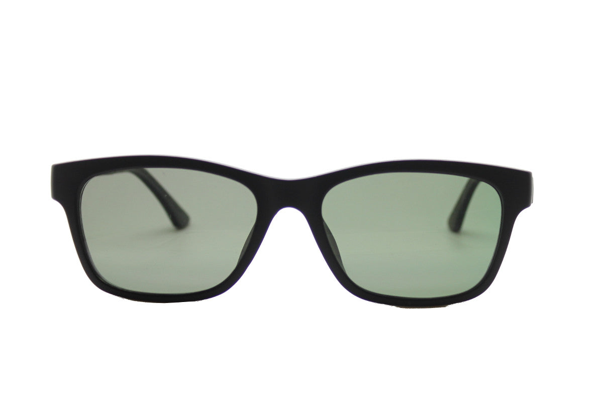 416f02f29c4 ... Taylor clip-on prescription sunglasses by Mr Foureyes front shot with  clip-ons with ...