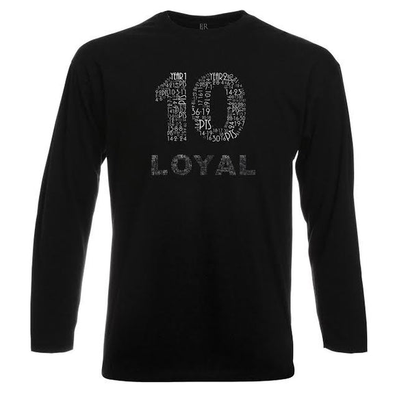 THE DEMAR DEROZAN ' LOYAL T ' Classic - LONG SLEEVE Black -