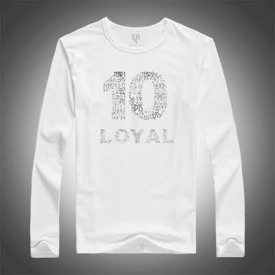 THE DEMAR DEROZAN ' LOYAL T '  Classic- Long Sleeve White -