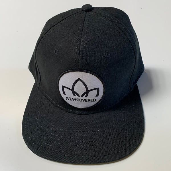 Lotus - Oval - Mid Profile Baseball Cap - Black