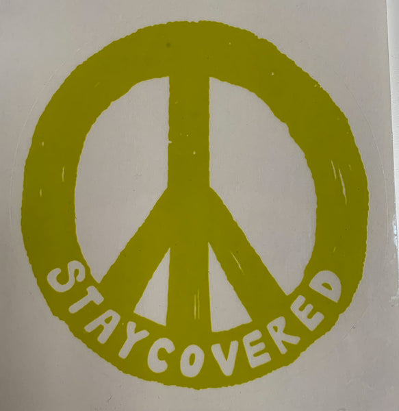 Stay Covered Peace Sign Sticker