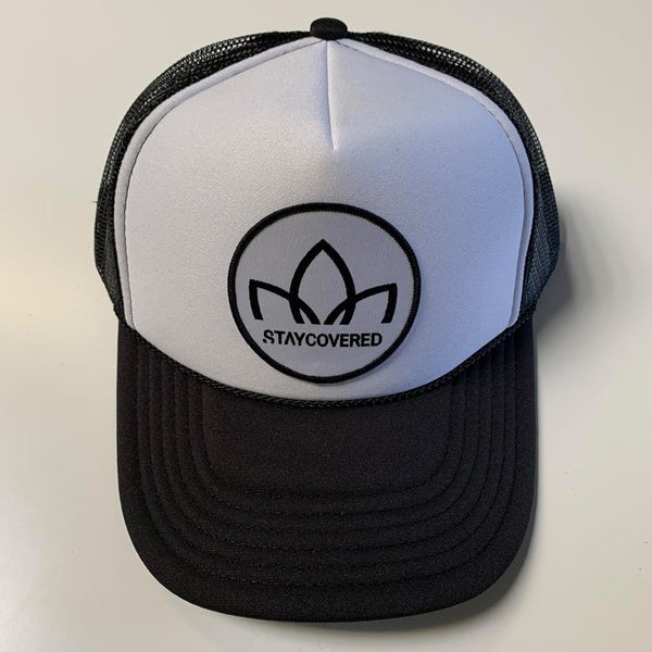 Lotus - Oval - Trucker Hat - Black/White