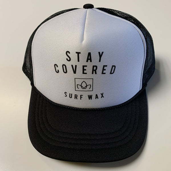 Wax Logo Trucker Hat - Black/White