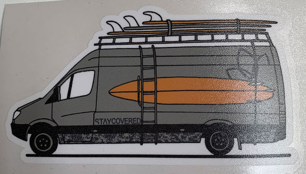 Stay Covered Sprinter Van Sticker