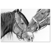 Image of Horse Love Black & White Canvas Gallery Wrap
