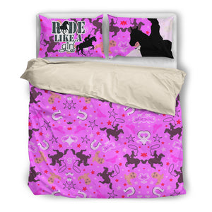 Ride Like a Girl 3pc Bedding Set