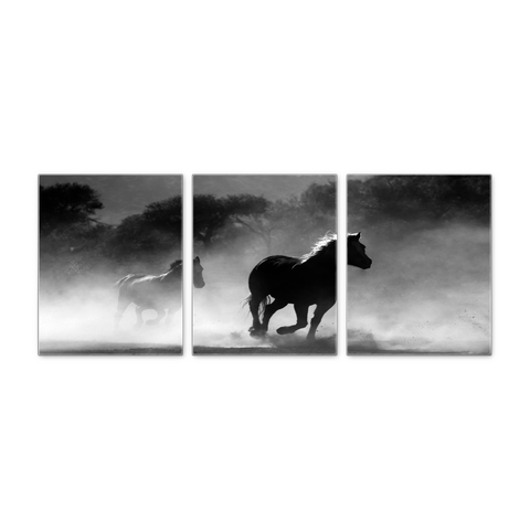 Running Horses Wall Canvas - Ready To Hang