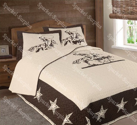 Calf Roper Western 3 Piece Bedding Set
