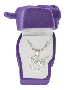 Clear Rhinestone Pony Necklace - Asst. Horsehead Gift Box