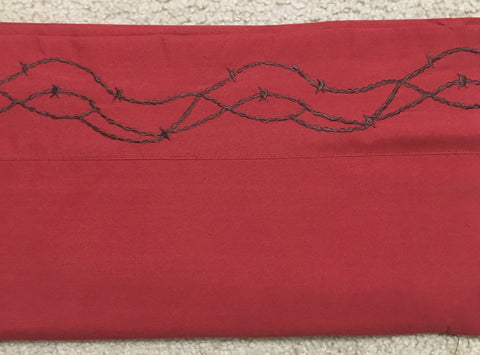 Barbed Wire Sheet Set - Burgundy