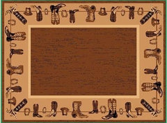 Area Rug - 2' X 4' WESTERN DESIGN COWBOY BOOTS MAT AREA RUG
