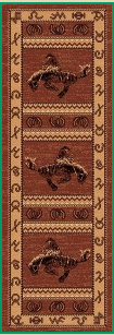 Area Rug - 3' X 8' WESTERN DESIGN COWBOY BOOTS RUNNER AREA RUG
