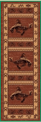 3' X 8' WESTERN DESIGN COWBOY BOOTS RUNNER AREA RUG