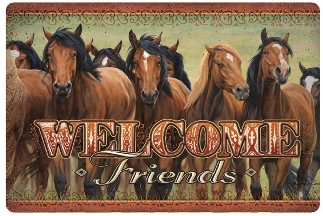 Area Rug - Welcome Friends Horse Door Mat - 12x24