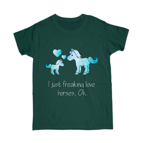 Exclusive I just Love Horses Tee