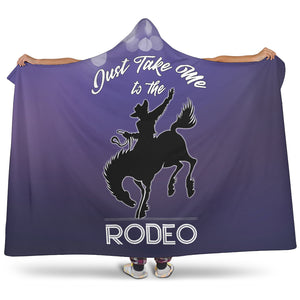 Take Me To The Rodeo Hooded Blanket