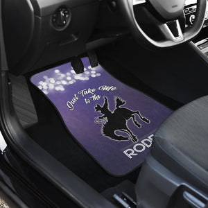 Take Me To The Rodeo Car Floor Mats