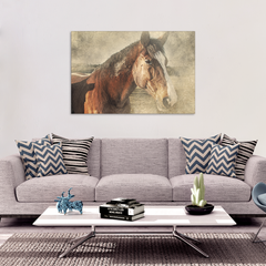 Brown Beauty Canvas Wall Art - Ready To Hang