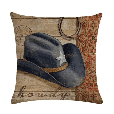 Wild West Throw Pillow Covers