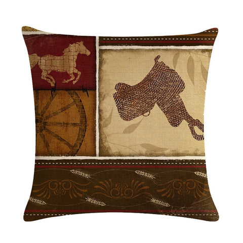 Cowboy Decorative Throw Pillows Cushion Covers