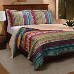quilt 100 cotton south western 3pc quilt set - Western Bedding