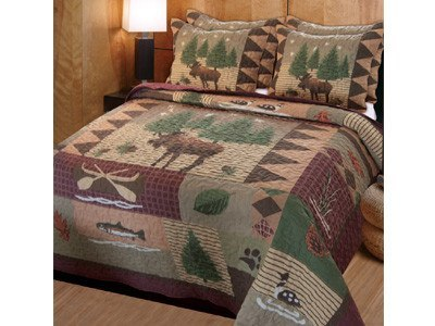Quilt - Moose Lodge 3 Piece Quilt Set