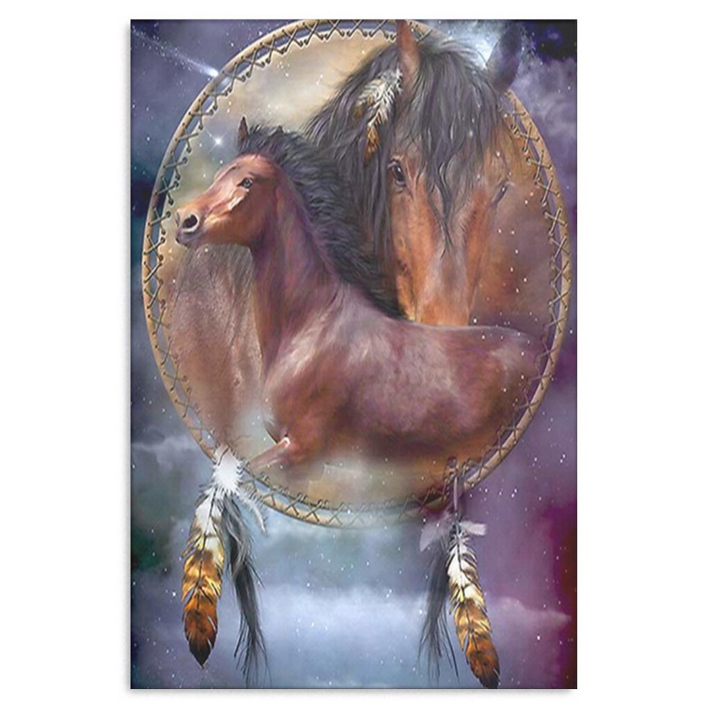 Horse Dream Catcher Canvas Wall Art - Framed and Ready To Hang ...