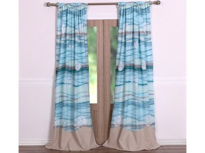 Window Treatments - Maui Panel/Tieback Set - 2 Curtins