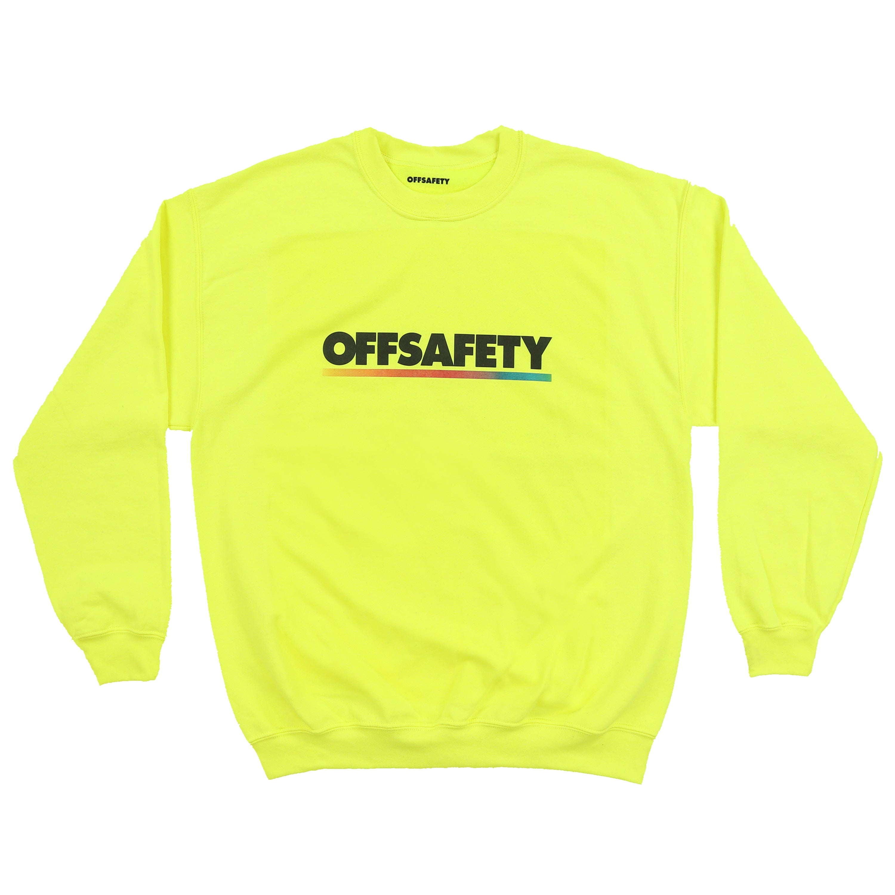 Color Lines Crewneck (Safety Green)