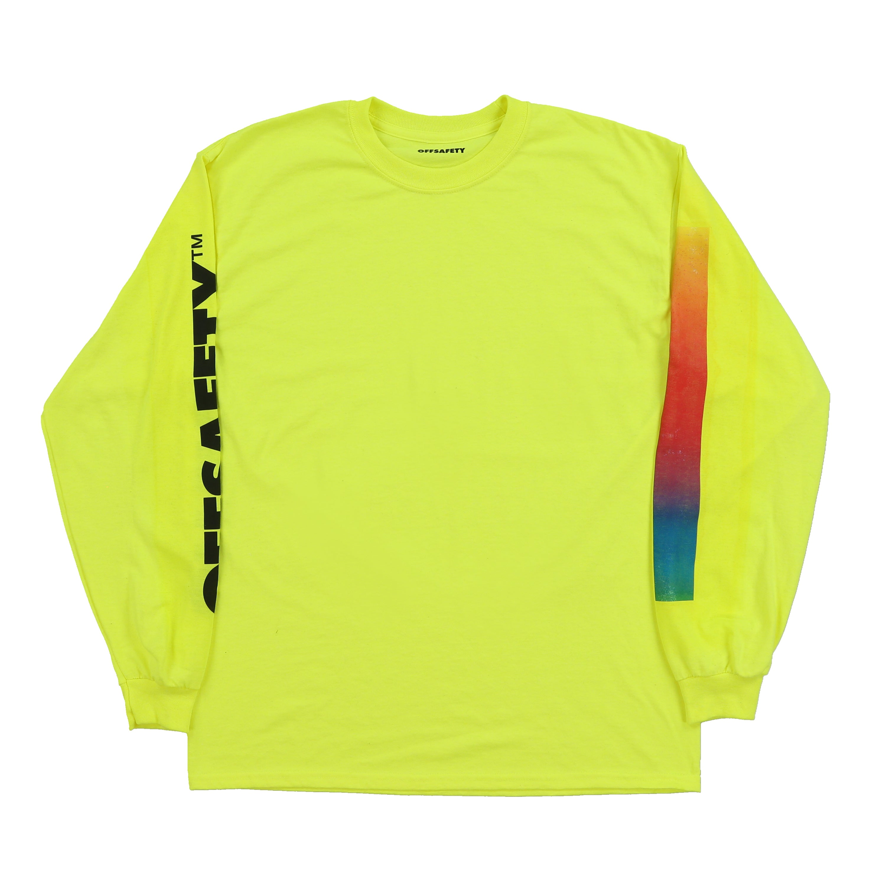 Color Lines LS Tee (Safety Green)