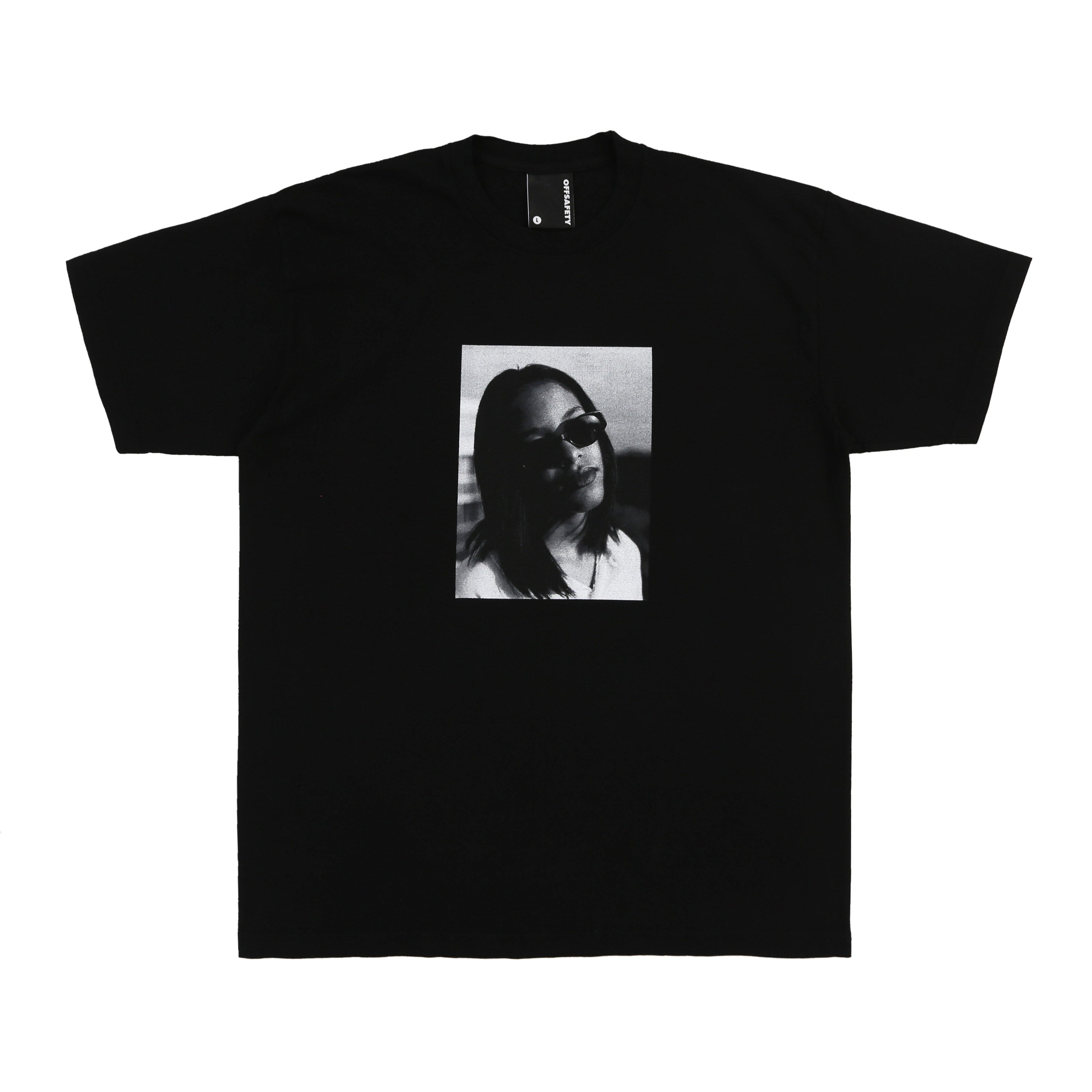 Aaliyah Angel Baby Tee (Black)