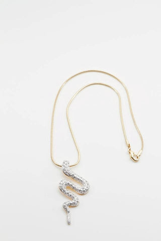 Rhinestone Snake Necklace